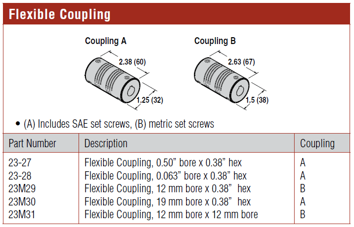 4100 Series and 6200 Series Flexible Coupling