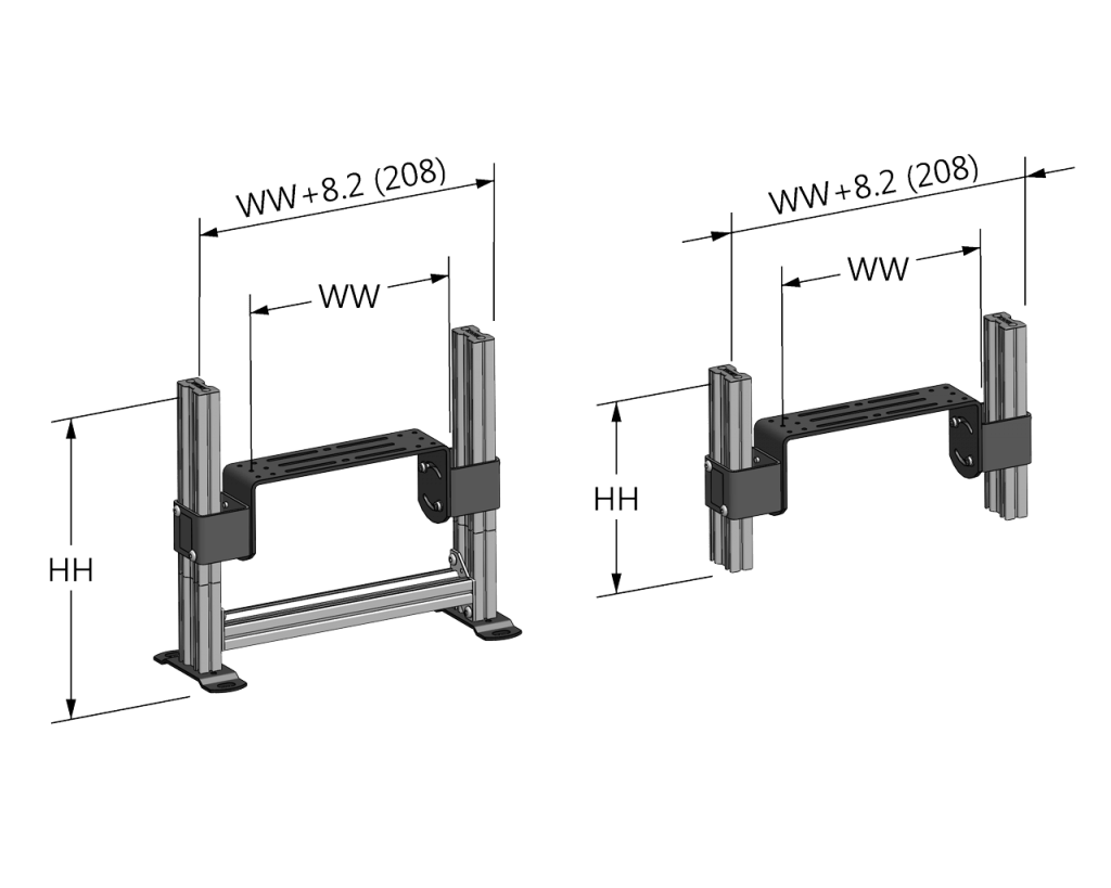 Stackable Multi Tier Support Stands