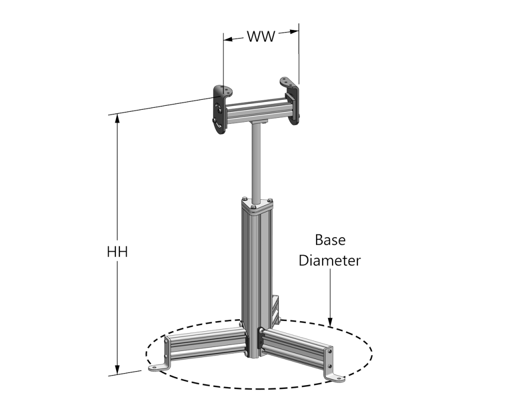 Single Post Support Stand