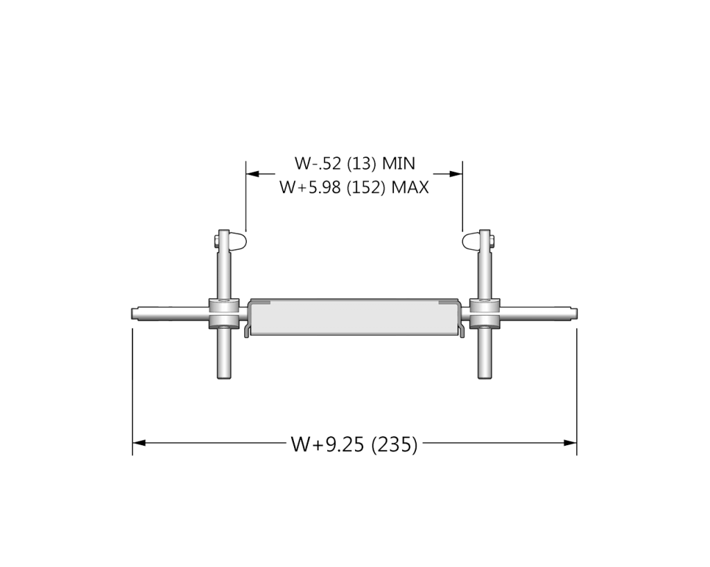 7200 Profile: 24 Adjustable Width Sanitary UHMW Guide