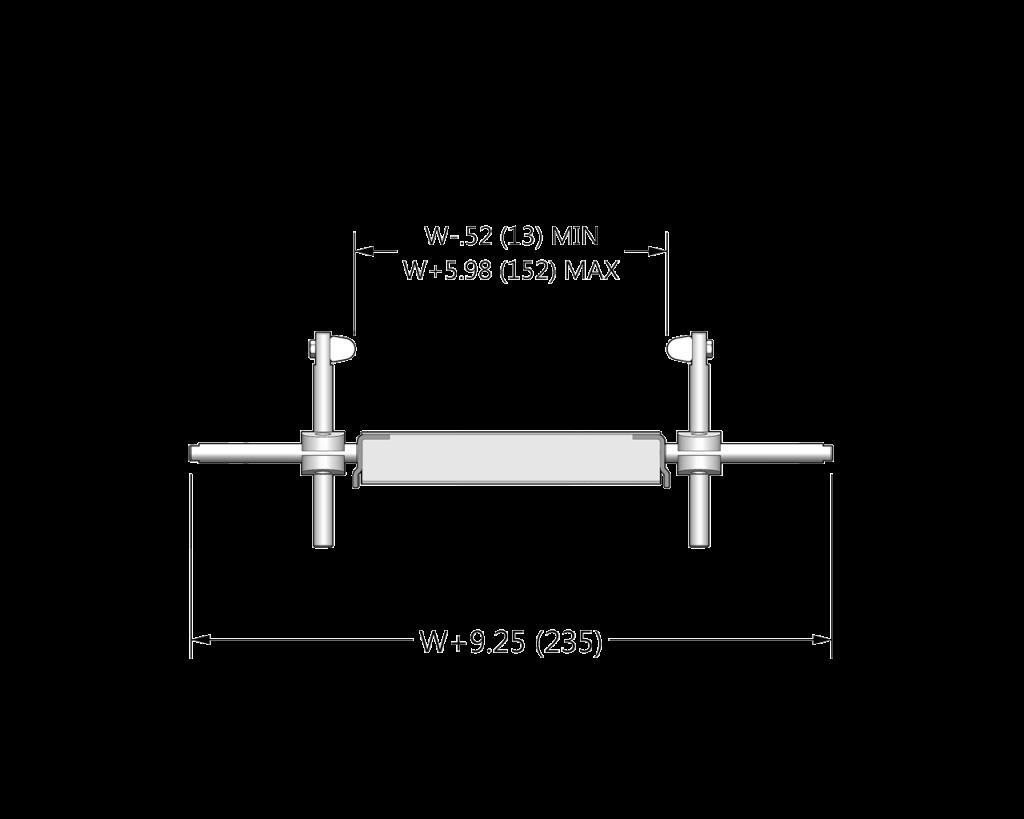7200 Profile: 24 Adjustable Width Sanitary UHMW Guide