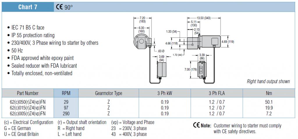 7200 series and 7300 series gearmotors dorner conveyors Dorner motor