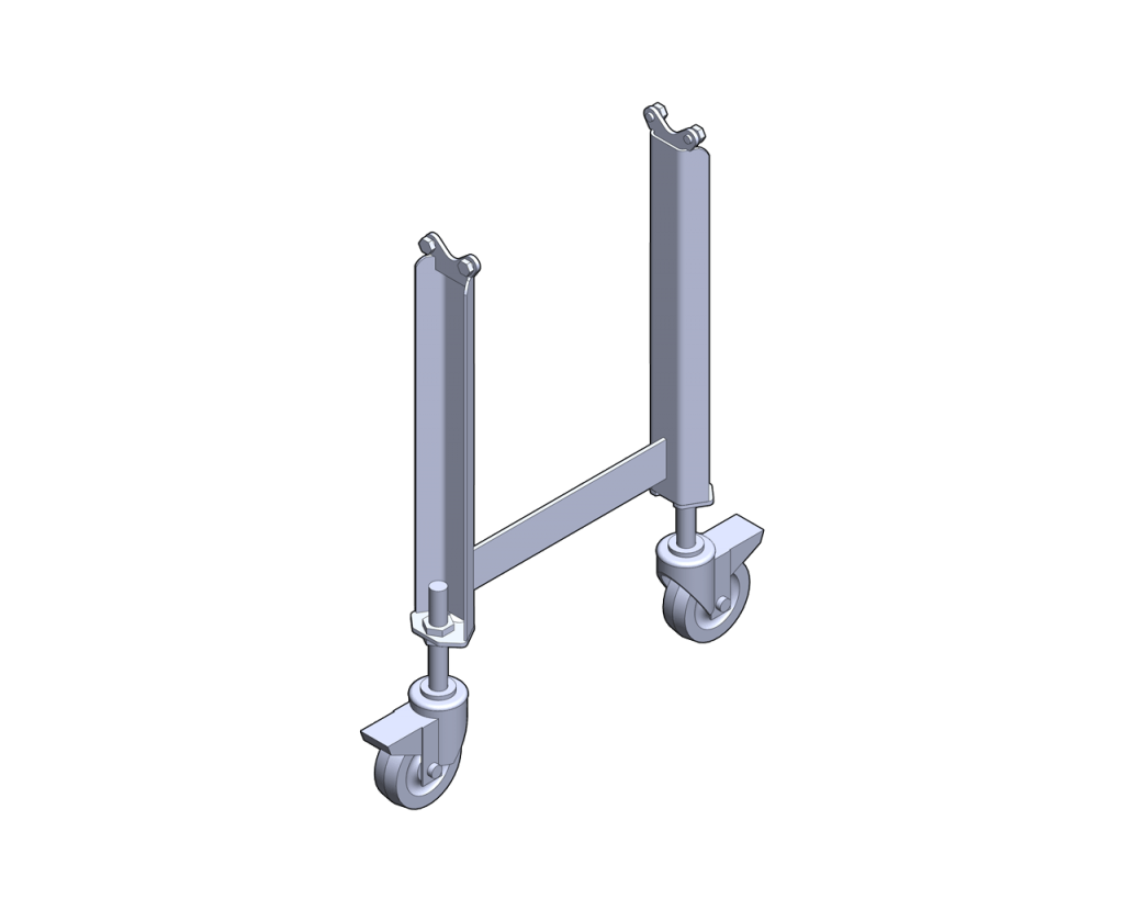 Standard Sanitary stands with Total Locking Casters