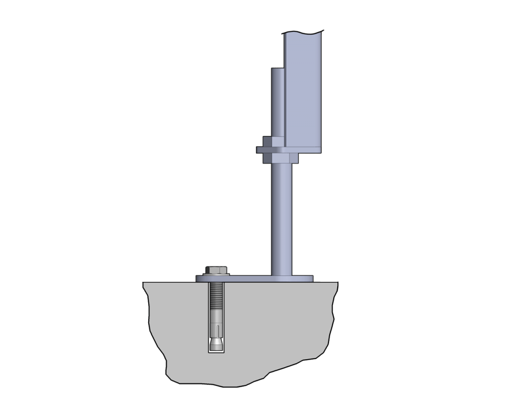 Stands Common Floor Anchor Sanitary Type1