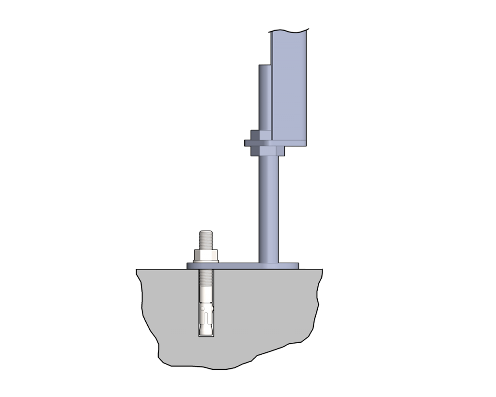 Stands Common Floor Anchor Sanitary Type 2
