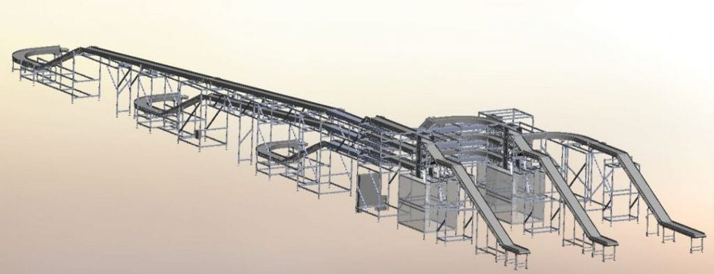 3D Drawing of Complete Conveyor System