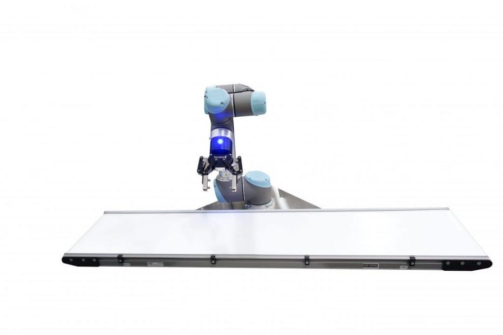 UR+ cobot works with Dorner 2200 Series